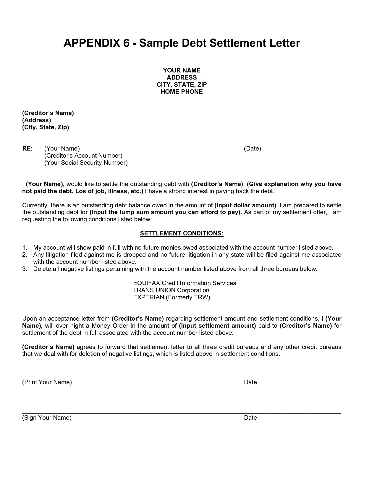 Debt Repayment Agreement Template Last Best S Of Paid In Full Intended For Debt Settlement Agreement Letter Template