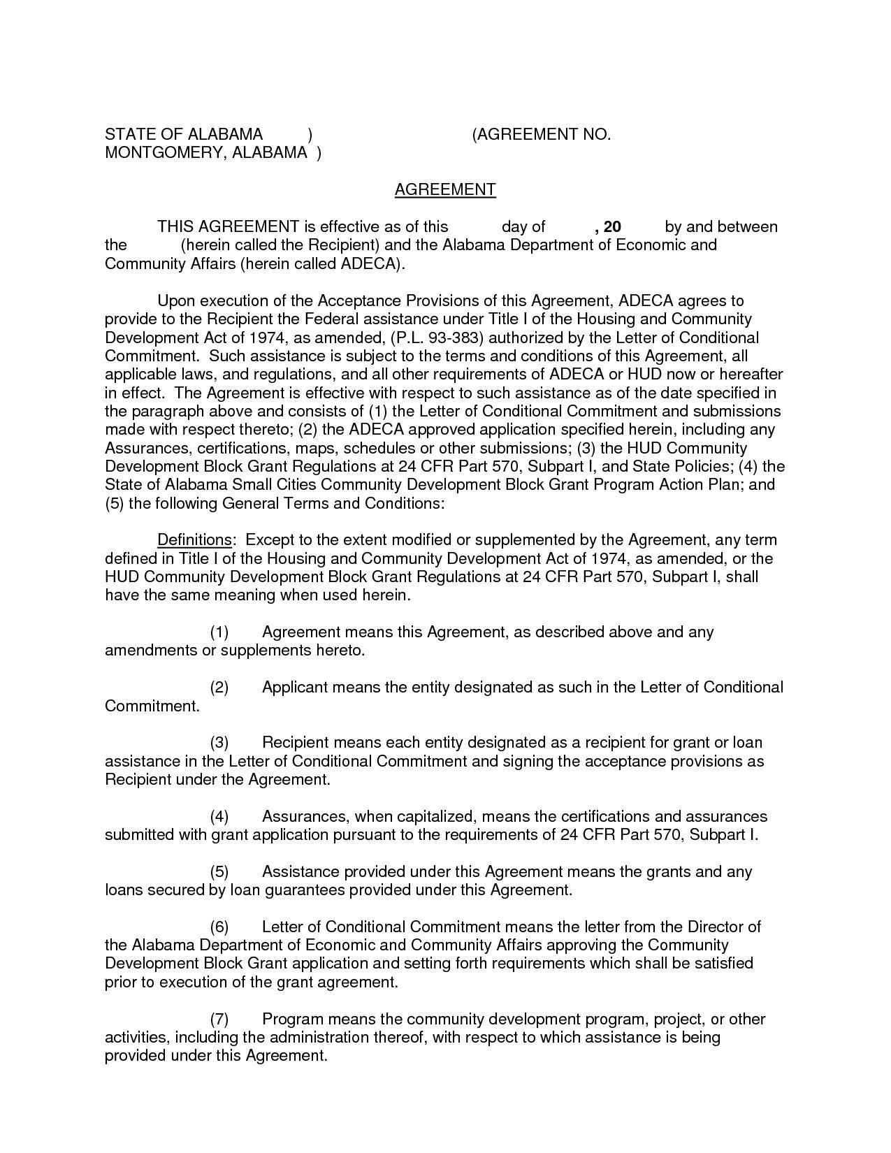 Debt Settlement Agreement Letter Template Examples  Letter Template Pertaining To Negotiated Settlement Agreement Sample
