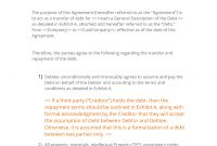 Debt Transfer Agreement   Easy Steps within Payment Terms Agreement Template