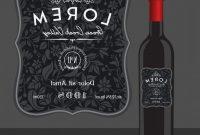 Decorative Wine Bottle Label Template Vector  Cqrecords within Template For Wine Bottle Labels
