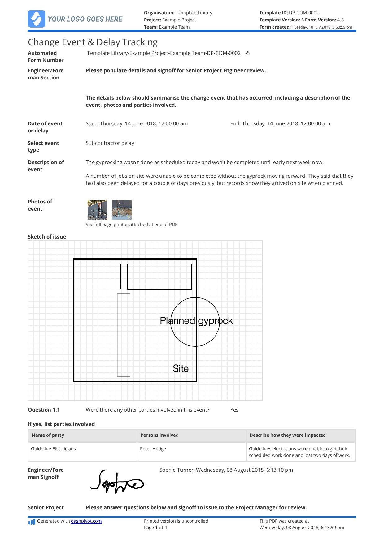 Delay Analysis Report Template Use This Template For Free Now With Regard To Project Analysis Report Template