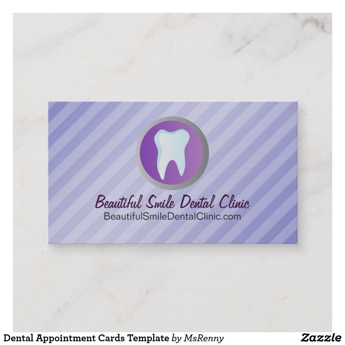 Dental Appointment Cards Template  Business Cards  Card Templates With Dentist Appointment Card Template