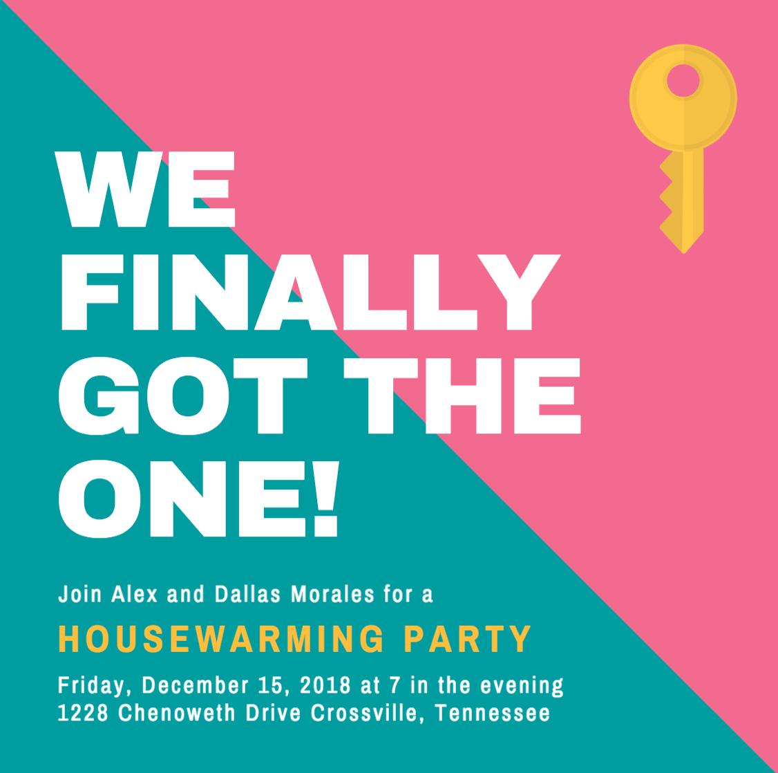 Design Your Own Custom Housewarming Invitations  Canva Within Free Housewarming Invitation Card Template