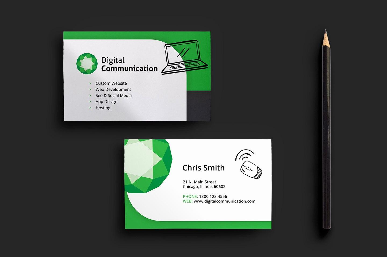 Designer Business Card For Web Design Business Card Template For For Web Design Business Cards Templates