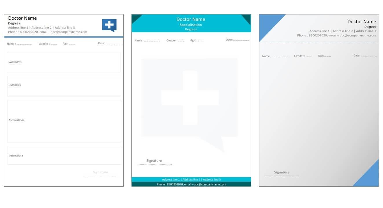 Designs For Medical Prescription Template – Indoclinic Blog Throughout Doctors Prescription Template Word