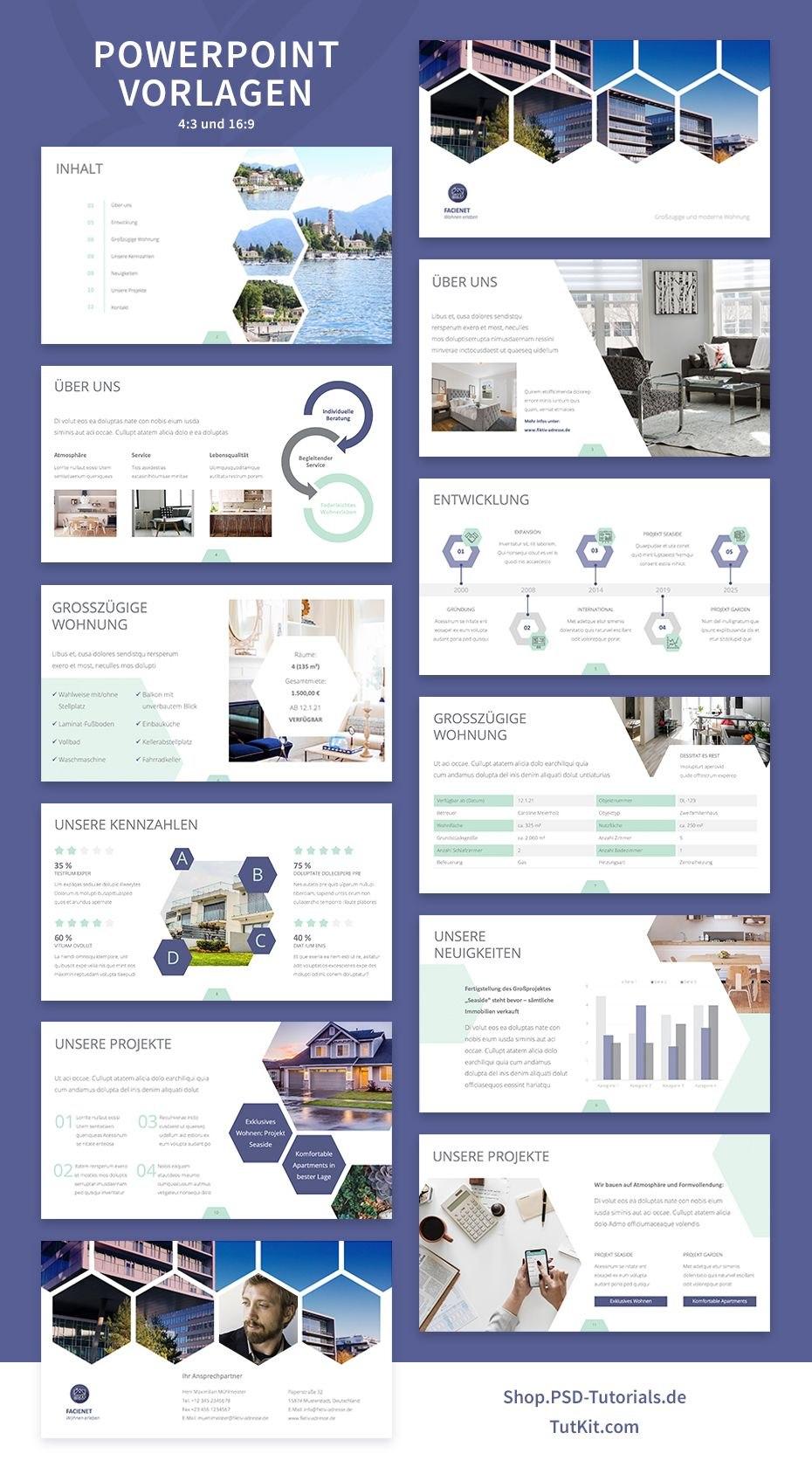 Designstarke Vorlagen Für Immobilienfirmen Und Architekturbüros For University Of Miami Powerpoint Template