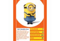 Despicable Me  Top Trumps Card Game   Ebay with regard to Top Trump Card Template