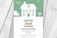 Details About New Home Cards  Change Of Address  Moving House inside Free Moving House Cards Templates