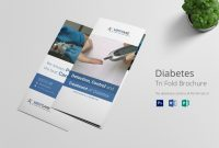Diabetes Brochure Trifold Template inside Tri Fold Brochure Publisher Template