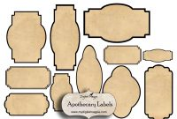 Digital Collage Sheet Blank Apothecary Labels Antique Shabby Inside inside Antique Labels Template