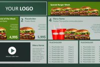Digital Menu Board Powerpoint Design • Presentationpoint with regard to Digital Menu Board Templates