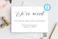 Digital Moving Card We've Moved Card Template Minimal  Etsy Regarding Moving Home Cards Template