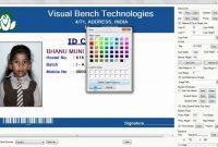 Digital School Id Card Preparation  Youtube regarding High School Id Card Template