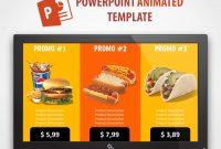 Digital Signage Powerpoint Food Presentation Animated Template with regard to Digital Menu Board Templates