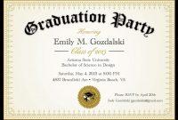 Diplomagraduationpartyinvitationsgradbyannounceitfavors within College Graduation Certificate Template