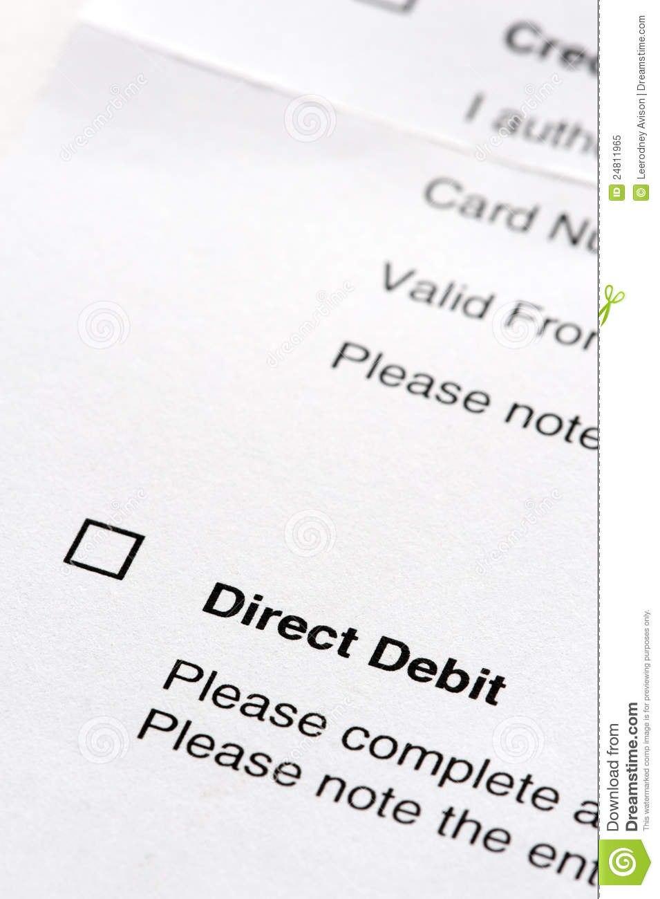 Direct Debit Agreement Form Stock Image  Image Of Note Agree Inside Direct Debit Agreement Template