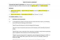 Director Service Agreement Template – Uk Template Agreements And with Contract For Service Agreement Template