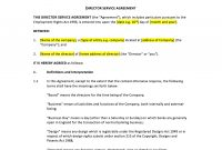 Director Service Agreement Template – Uk Template Agreements And within Conflict Resolution Agreement Template