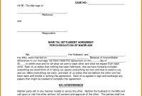 Divorce Settlement Agreement Form  Instinctual Intelligence within Divorce Mediation Agreement Template
