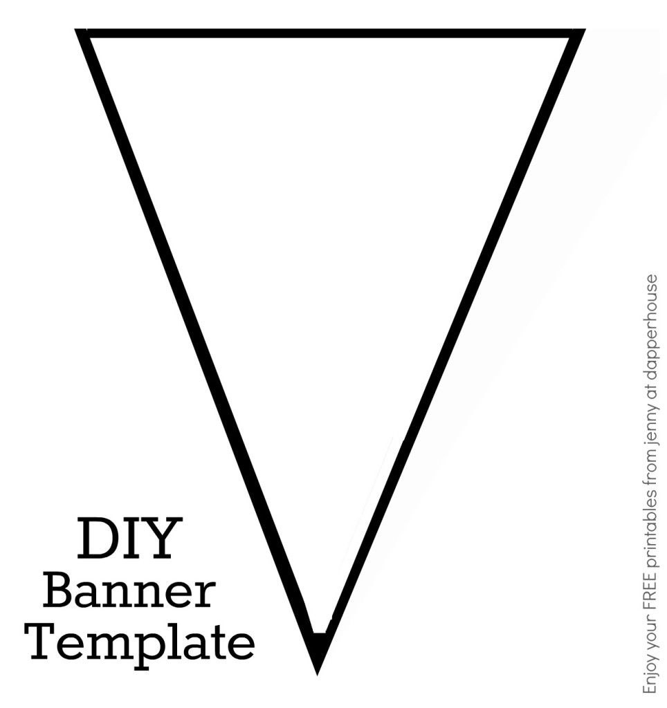 Diy Banner Template Free Printable From Jenny At Dapperhouse  Let's Within Diy Banner Template Free