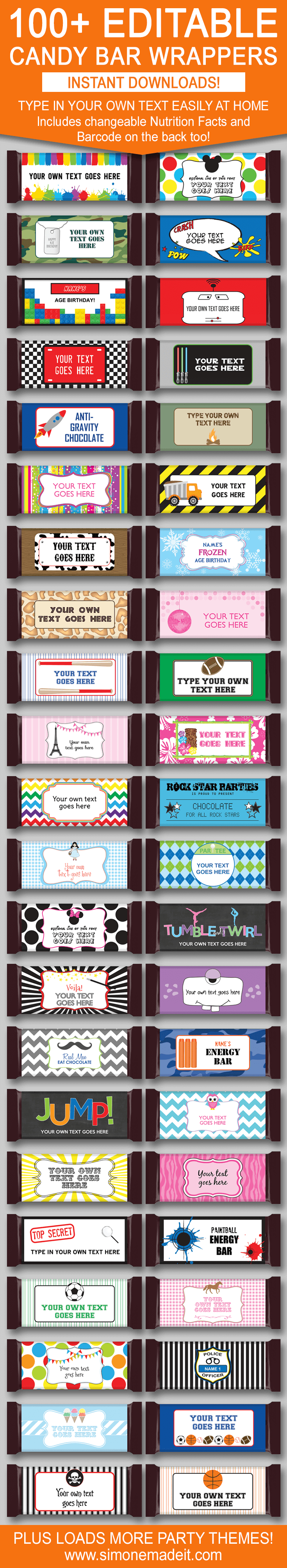 Diy Candy Bar Wrapper Templates – Personalized Candy Bars  Candy In Hershey Labels Template