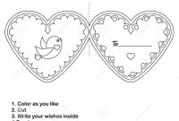 Diy Children Educational Creative Game Make A Valentine Day Card inside Valentine Card Template For Kids