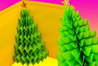 Diy D Christmas Tree Popup Card  Greeting Card  Youtube in 3D Christmas Tree Card Template