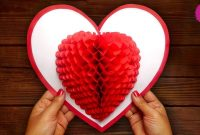 Diy D Heart ❤ Pop Up Card  Valentine Pop Up Card  Youtube intended for 3D Heart Pop Up Card Template Pdf