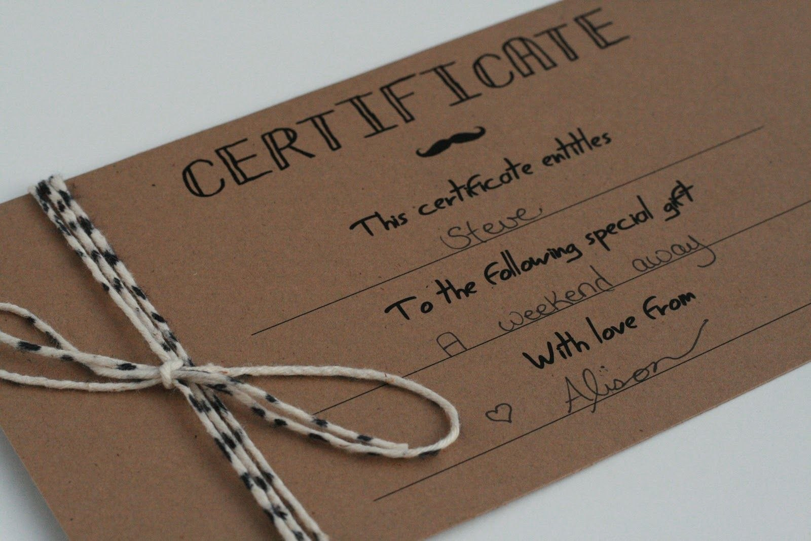 Diy Gift Certificates Template  Google Search  Yoga  Gift With Homemade Gift Certificate Template