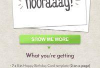 Diy Hip Hip Hooray Birthday Card Greeting Card Anniversary  Etsy within Anniversary Card Template Word