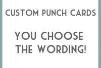 Diy Printable Punch Cards  You Choose Wording This Is Great For pertaining to Reward Punch Card Template