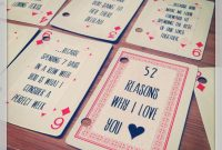 Diy  Things I Love About You Deck Cards Gift  Gifts  Wrapping Intended For 52 Things I Love About You Deck Of Cards Template