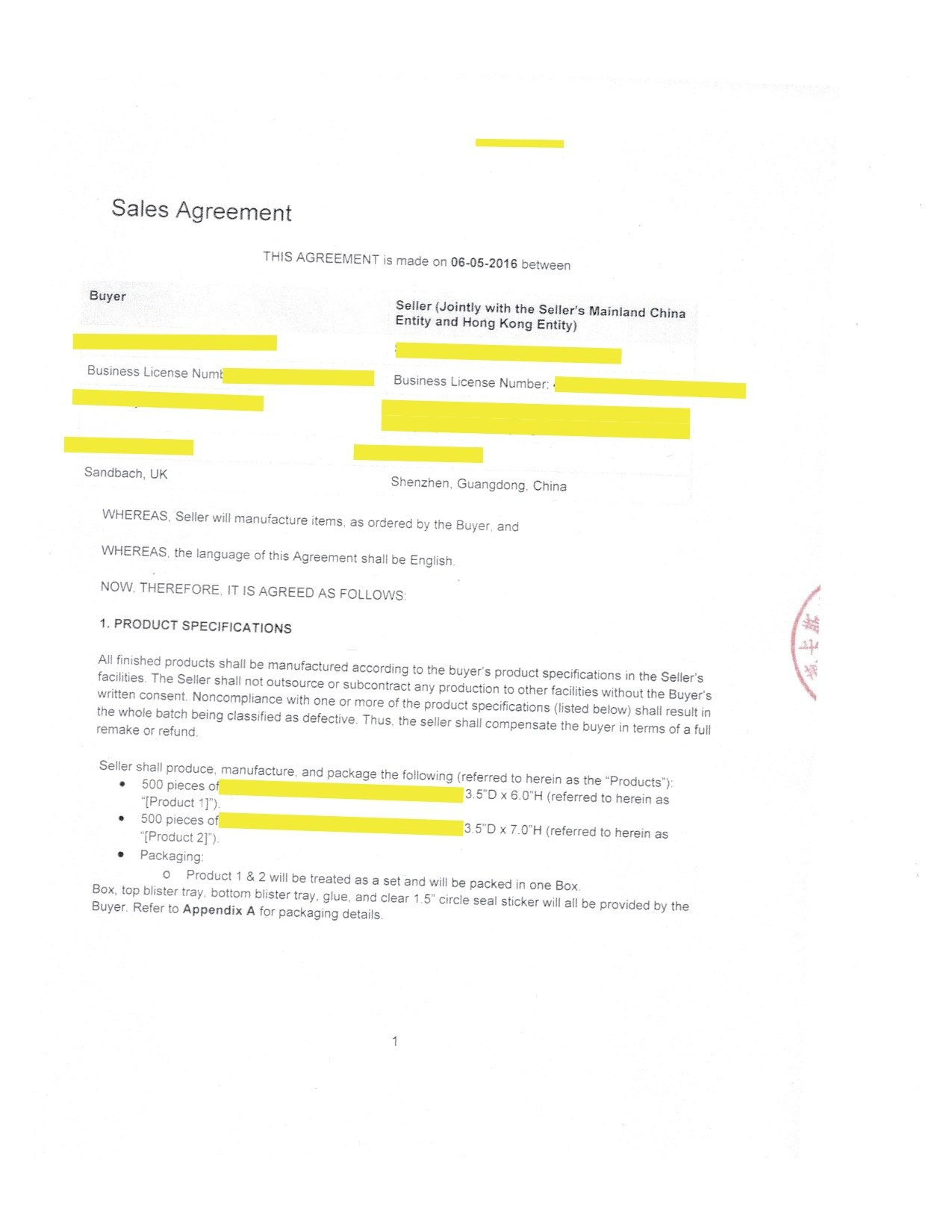 Do Contracts Matter In China – Enter China Pertaining To Manufacturing Supply Agreement Templates