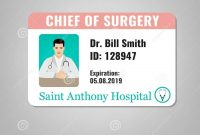 Doctor Id Card Stock Vector Illustration Of Health with regard to Hospital Id Card Template