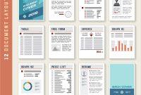 Document Report Layout Templates Set Royalty Free Vector regarding Illustrator Report Templates