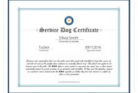 Dog Certificate Mock Fresh Free Service Dog Certification Download throughout Service Dog Certificate Template