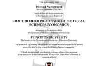 Doktortitel Kaufen Princeton University  Berufszertifi…  Degree for Doctorate Certificate Template