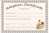 Doll Adoption Certificate Design Template In Psd Word for Blank Adoption Certificate Template