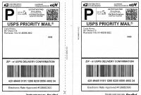 Domestic Shipping Included  Self Adhesive Labels Shipping Mailing for Usps Shipping Label Template