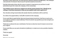 Donation Request Letters Asking For Donations Made Easy  Donation inside Business Donation Letter Template