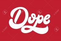 Dope Vector Handwritten Lettering Made In 's Style Template throughout Dope Card Template