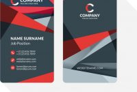 Double Sided Business Card Templates Vector Creative And Elegant inside 2 Sided Business Card Template Word