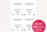 Double Sided Place Cards With Meal Options · Wedding Templates And with Wedding Menu Choice Template