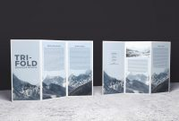 Doublesided Trifold Brochure Psd Mockup  Brochure Mockups in Double Sided Tri Fold Brochure Template