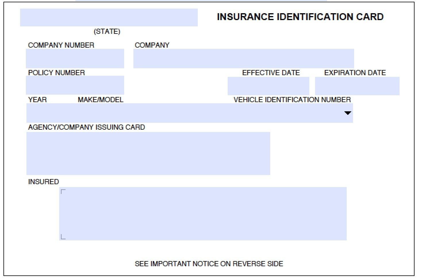 Download Auto Insurance Card Template Wikidownload Regarding Fake Car Insurance Card Template