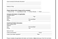 Download Best Western Credit Card Authorization Form Template  Pdf inside Authorization To Charge Credit Card Template