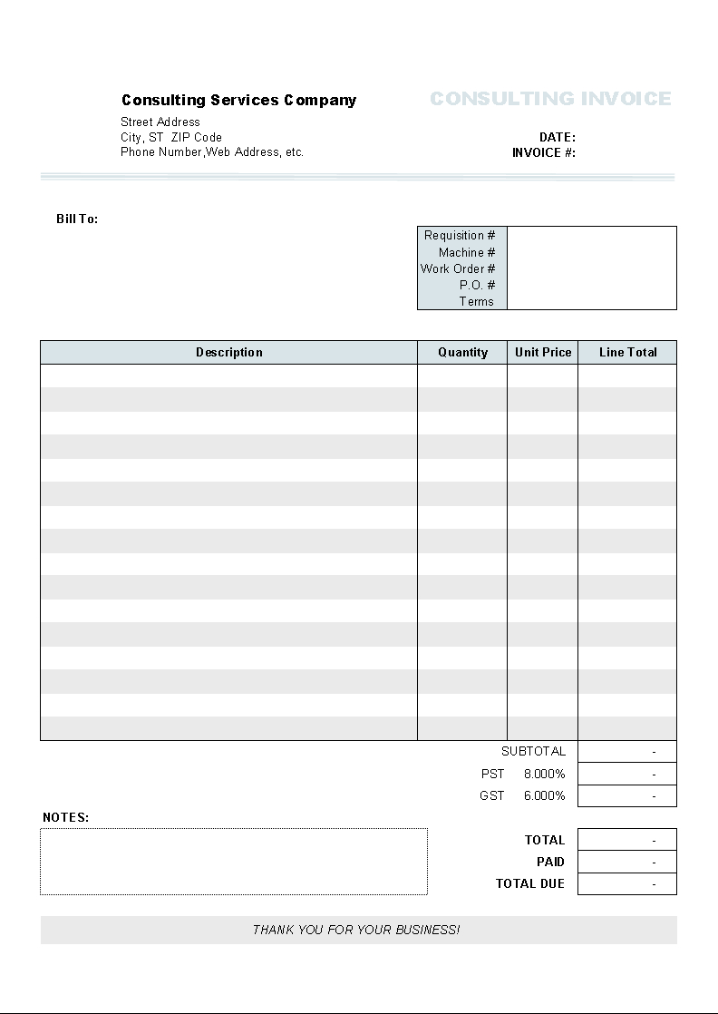 Download Clothing Store Invoice Template For Free  Uniform Invoice In Invoice Template Xls Free Download