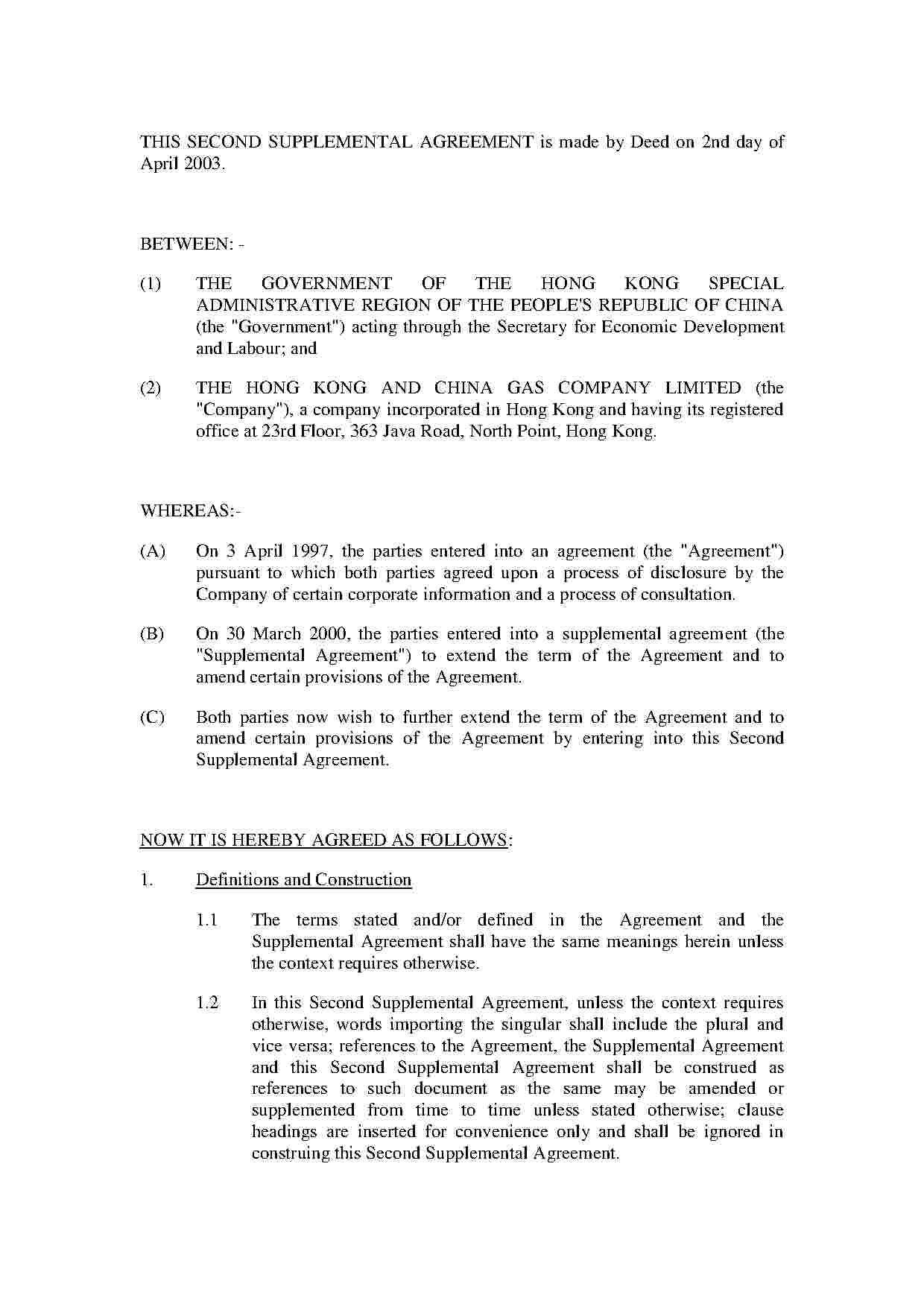 Download Contract Extension Agreement Style  Template For Free At In Supplemental Agreement Template