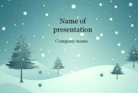 Download Free Blue Winter Powerpoint Template For Presentation intended for Snow Powerpoint Template