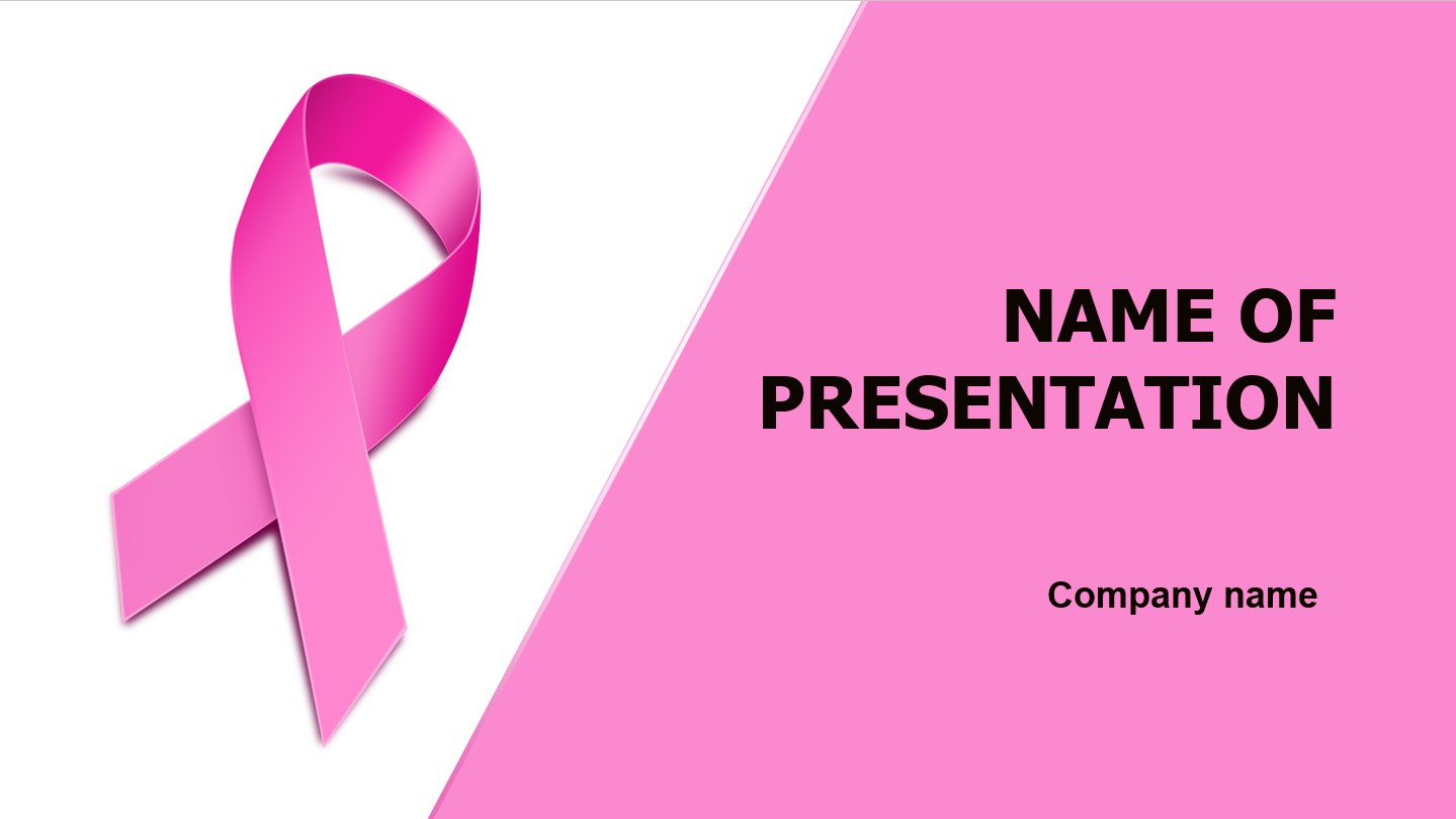 Download Free Breast Cancer Powerpoint Template And Theme For Your With Breast Cancer Powerpoint Template